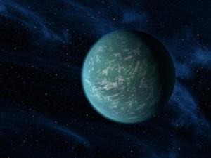 Визията на художник за Kepler-22b. Изображение: NASA/Ames/JPL-Caltech
