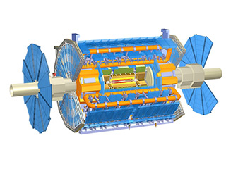 Детйлна компютърна графика на детектора ATLAS. Снимка: ATLAS Experiment © 2012 CERN