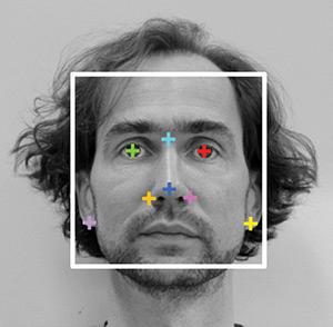 Екстрактиране на лицеви маркери от 2D портретни снимки. Снимка: Liu F, van der Lijn F, Schurmann C, Zhu G, et al/Plos