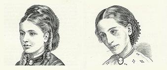 Рисунки изобразяващи Мис А - неназована пациентка на сър Уилиам Уитни Гъл, която той подлага на лечение от анорексия невроза. Гъл използва илюстрациите в статия публикувана през 1873г., в която се описва заболяването и му се дава име за първи път.