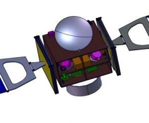 Дизайн на сондата за мисията Asteroid Impact Monitor - Наблюдател на Сблъсък с Астероид. Изображение: ESA