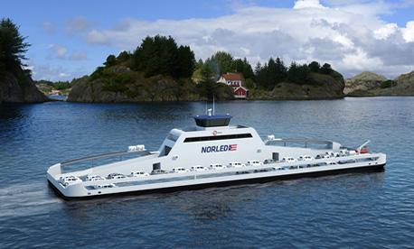 Разработения от Siemens и корабостроителница Fjellstrand ферибот-автовоз е способен да пренася до 120 коли и 360 пътници. Снимка: Siemens