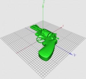 Модел за 3D принтиране на револвер-играчка. Изображение: wgss/Thingiverse