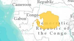 Боноботата живеят на юг от река Конго