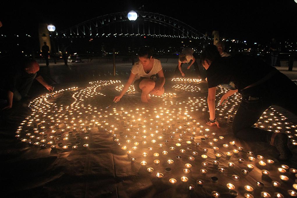 Часът на Земята в Сидни, Австралия през 2012г. Снимка: earthhour.org