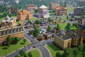 Построен от потребители град в SimCity, акцентиращ върху образованието (кликни за по-голяма версия). Изображение: EA/Maxis/SimCity