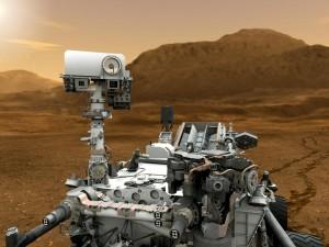 Художествена концепция за марсохода Кюриосити на Червената планета. Изображение: NASA/JPL-Caltech