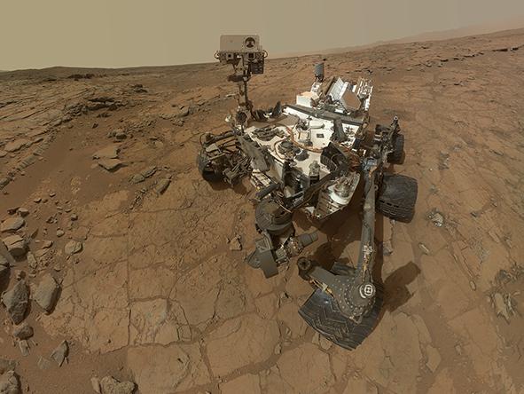 Автопортрет на Кюриосити в кратера Гейл на Марс. Снимка: NASA/JPL-Caltech/MSSS