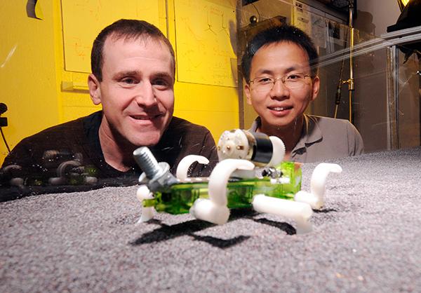 Учените смятат, че придвижващите се подобно на гущер роботи могат да намерят много приложения. Снимка: Georgia Tech