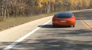 Тест на колата Urbee. Снимка: Urbee