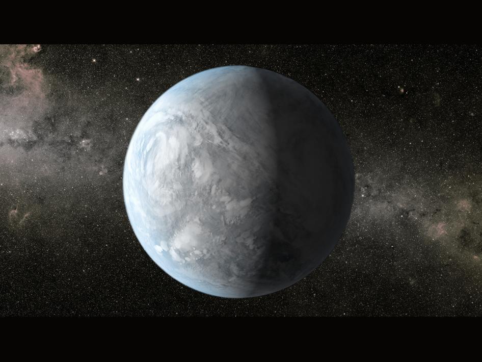 Планетата Kepler-62e (кликни за по-голяма версия). Източник: NASA Ames/JPL-Caltech