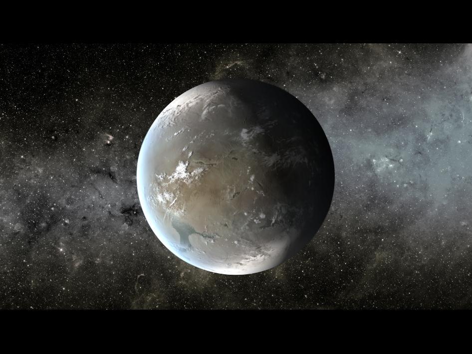 Планетата Kepler-62f (кликни за по-голяма версия). Източник: NASA Ames/JPL-Caltech
