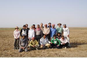 Екипът от археолози работещи на разкопките на древния комплекс в Ирак. Снимка: The University of Manchester