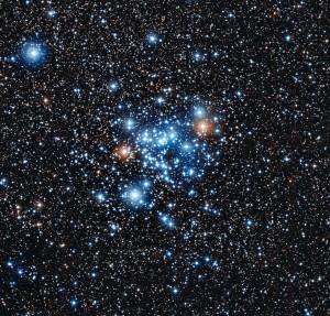 Новият клас звезди са открити в купа NGC 3766 (кликни за по-голяма версия). Снимка: ESO