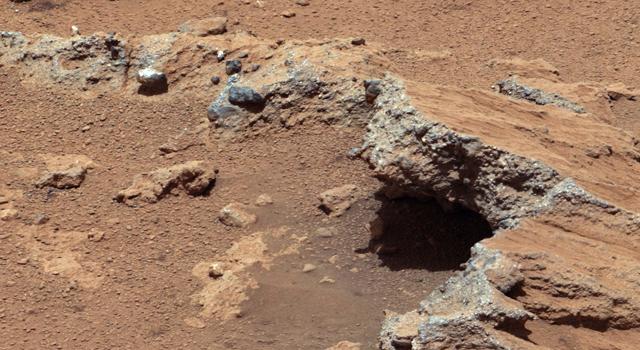 Едно от местата, на които Кюриосити откри следи от протичането на древен поток на Марс. Снимка: NASA/JPL-Caltech/MSSS