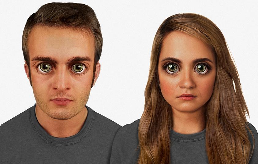 Човешкото лице може да изглежда по този начин след 100 000 години. Изображение: Nickolay Lamm/MyVoucherCodes.co.uk