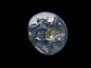 Илюстрация на Земята по време на ледникова епоха. Автор: Ittiz