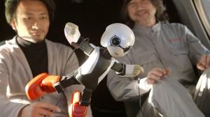 Роботът Киробо е висок само 34 сантиметра и тежи 1 килограм. Снимка: KIBO-ROBOT