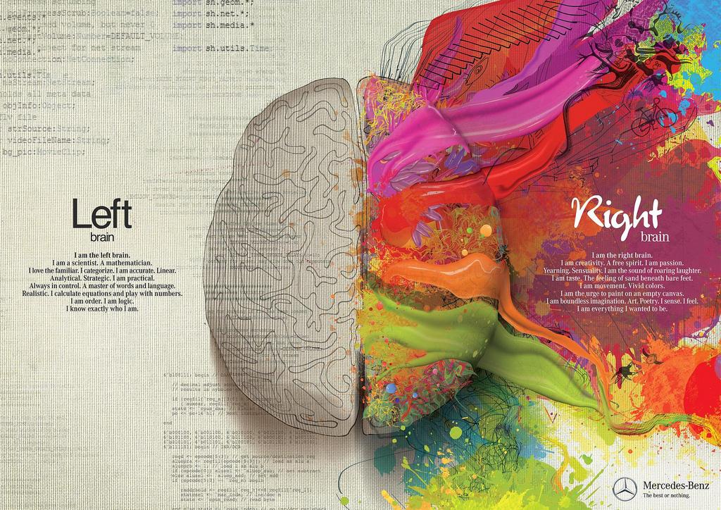Широко разпространена е идеята, че хората се делят спрямо това дали използват повече лявата или дясната половина на мозъка си. Изображение: Bernard Goldbach (Creative Commons)