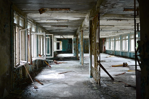 Стая в начално училище в Чернобил. Снимка: Blacksmith Institute