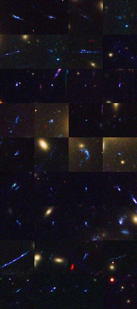 """Галактики в ранната Вселена отпреди 13,2  милиарда години, заснети от """"Хъбъл"""". Снимки: NASA, ESA, and B. Siana and A. Alavi (University of California, Riverside)"""