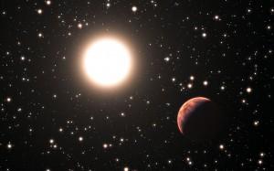 Илюстрация на една от планетите около звезда в купа Месие 67. Автор: ESO/L. Calçada