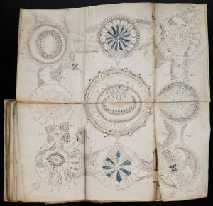 Страница от загадъчния манускрипт на Войнич
