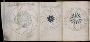 Друга страница от манускрипта, която изглежда се отнася за астрономически явления