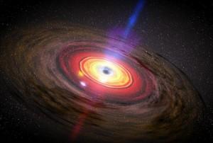 Диск от материя около черна дупка. Изображение: NASA/Dana Berry/SkyWorks Digital
