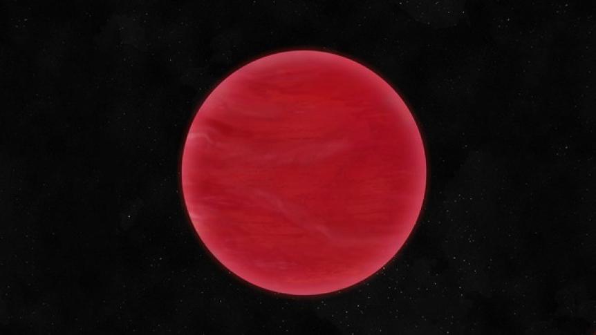 Небесата на странното джудже ULAS J222711-004547 са червени. Илюстрация: Neil J Cook, Centre for Astrophysics Research, University of Hertfordshire