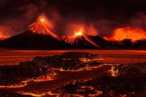 Според една от водещите теории, масовото измиране през Перм-Триас е причинено от титанични вулканични изригвания. Изображение: José-Luis Olivares/MIT