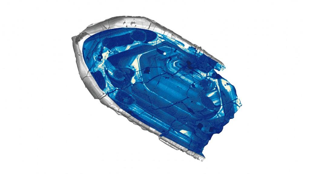 Най-старият известен ни фрагмент от планетата. Снимка: John Valley, University of Wisconsin