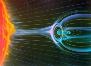 Магнитосферата на Земята действа като щит. Илюстрация: NASA
