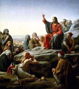 """Картината """"Проповед на планината"""" от Карл Блох."""