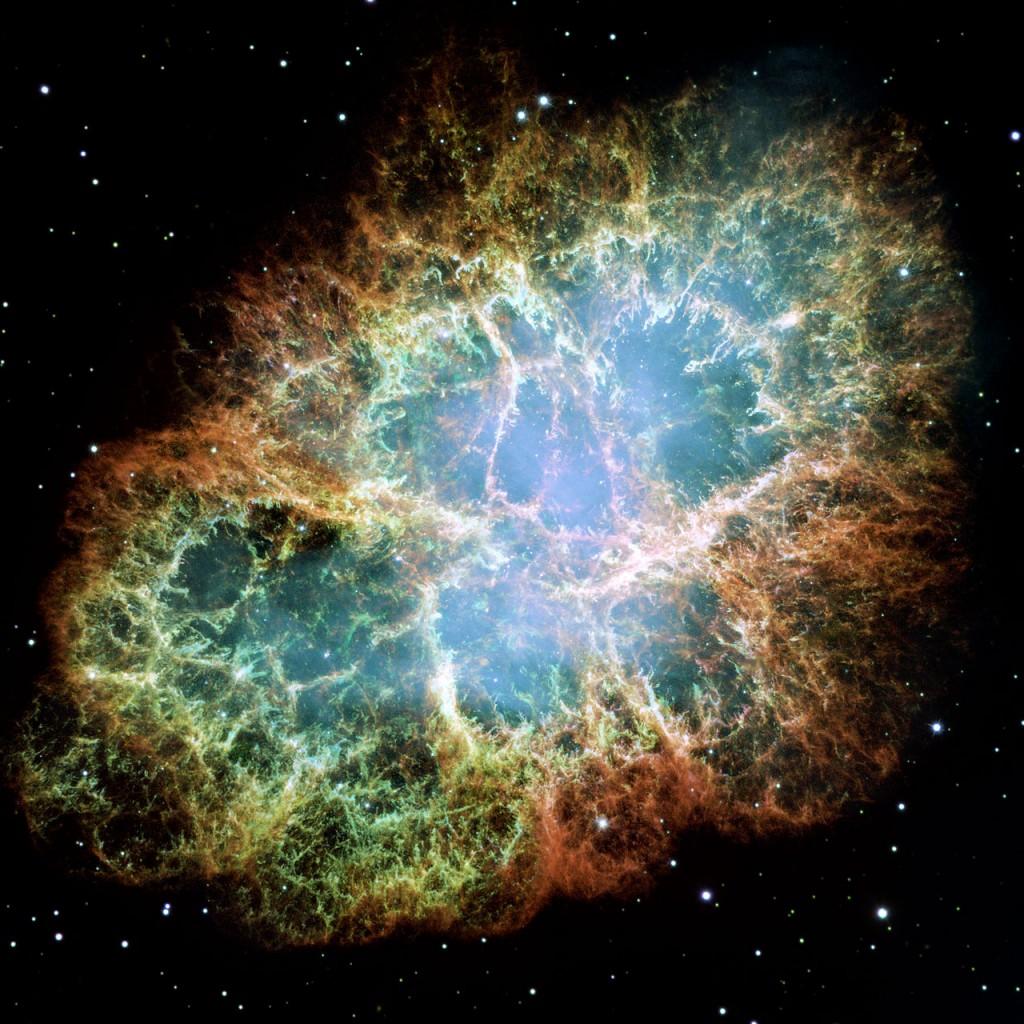 Мъглявината Рак. Снимката е комбинация от 24 отделни изображения от Хъбъл. Снимка: NASA, ESA and Allison Loll/Jeff Hester (Arizona State University). Acknowledgement: Davide De Martin (ESA/Hubble)
