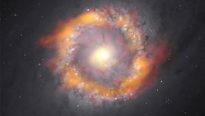 Чудовищна черна дупка в сърцето на галактика тежи колкото 140 милиона слънца