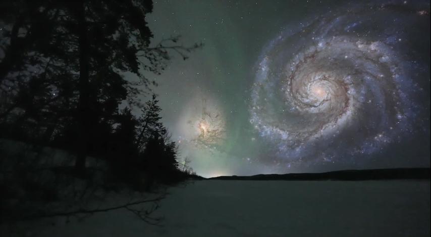 Галактиката Водовъртеж и нейната галактика-компаньон се намират на около 25 милиона светлинни години от Млечния път. Двете галактики могат да се наблюдават с бинокъл.