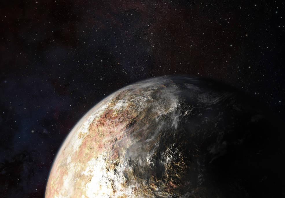 Инструментите на сондата New Horizons ще ни позволят до открием облаци на Плутон. Илюстрация: JHUAPL
