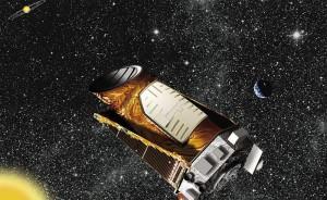 "Художествена концепция за телескопа ""Кеплер"". Изображение: NASA/Ames/JPL-Caltech"