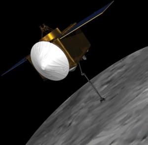Мисията предвижда през 2016г. до намиращ се в близост до Земята астероид да бъде изпратен космически кораб, който в последствия да върне проба от материала на повърхността му на Земята. Изображение: NASA/GSFC/UA