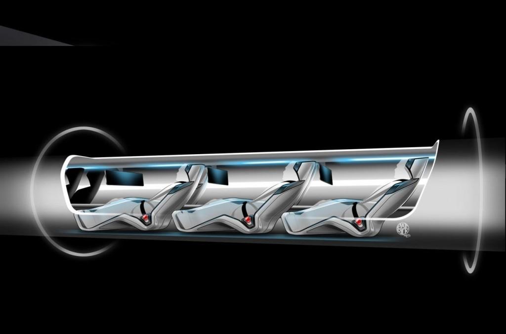 Концепция за пасажерската капсула на Хиперлуп. Изображение: SpaceX