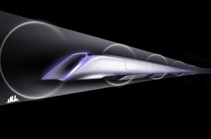 Художествена концепция за Хиперлуп. Изображение: SpaceX