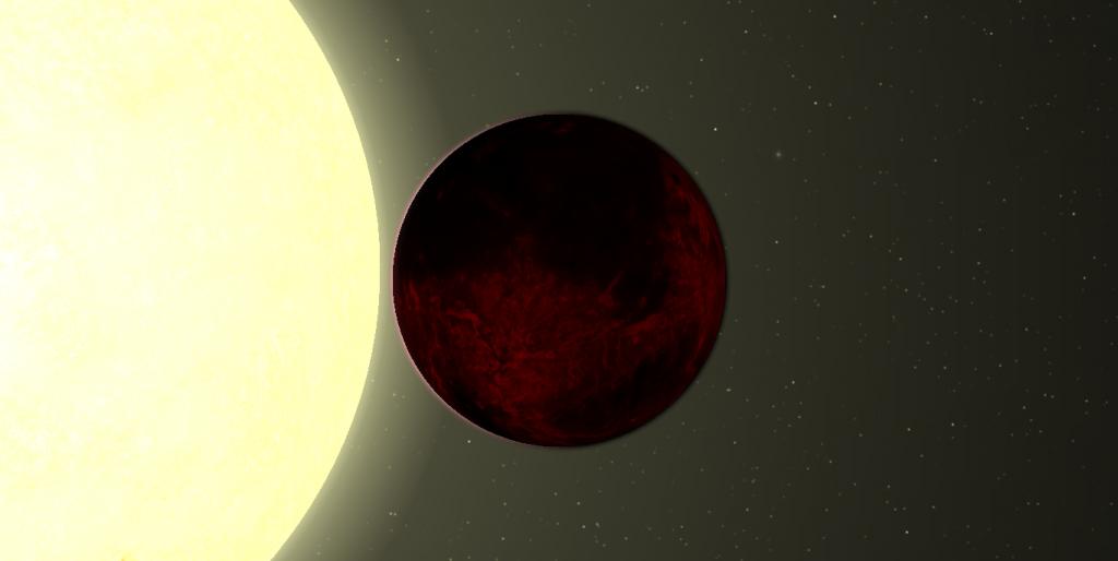 Илюстрация на планетата Kepler-78b в орбита около звездата си. Автор: Hemsley Jenkins (CC BY-SA 3.0)