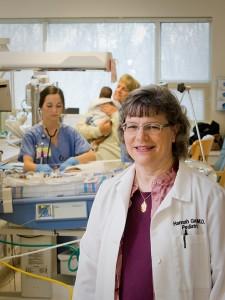 Д-р Хана Гей от екипа, който се грижи за детето. Снимка: University of Mississippi Medical Center