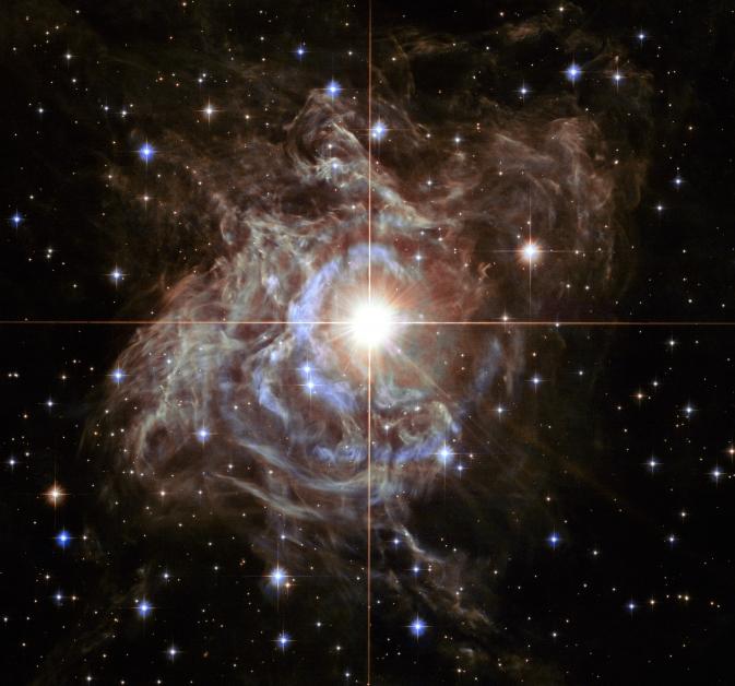 """Хъбъл"" улови красивото ""светлинно ехо"" около RS Puppis. Снимка: NASA/ESA/Hubble Heritage (STScI/AURA)-Hubble/Europe Collab"
