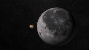 Илюстрация на метеорита и Луната. Изображение: University of Huelva