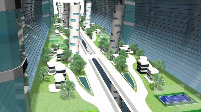 Проектът на българските ученици предвижда вътрешността на станцията да изглежда така. Автор: Greenspace