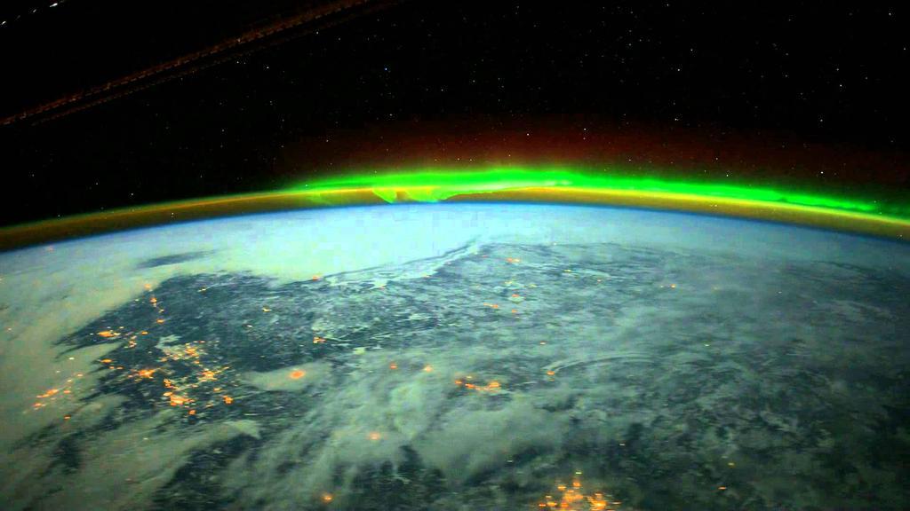 Аврората от космоса. Снимка: Somraj Basumatary