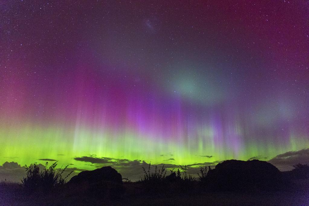 Южното сияние над Нова Зеландия. Снимка: Ian Griffin