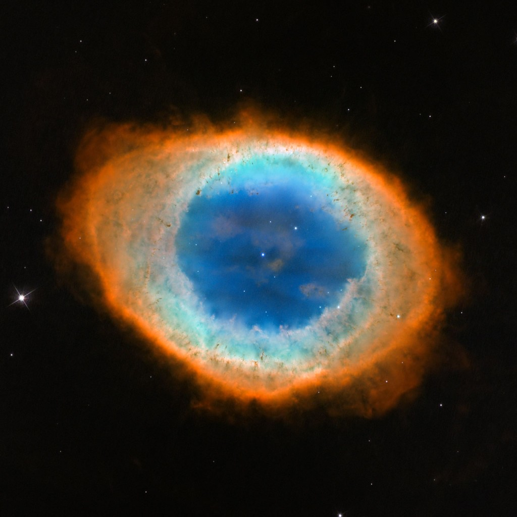 Красивата мъглявина Пръстен. Снимка: NASA, ESA, and C. Robert O'Dell (Vanderbilt University).